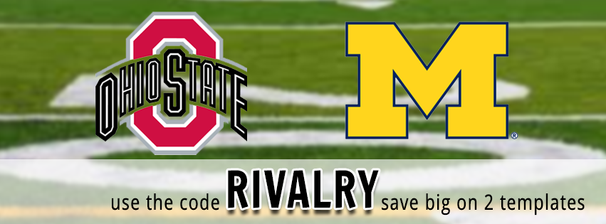 ohio state michigan rivalry photo booth templates
