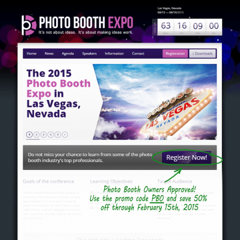 "Use the code ""PBOWNERS"" to save 50% on Photo Booth Expo Tickets"