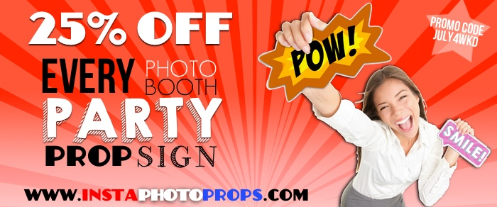 insta photo props signs