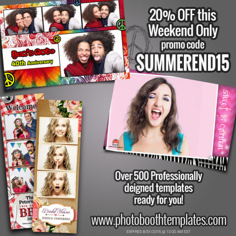 Photo Booth Templates Sale This Weekend!